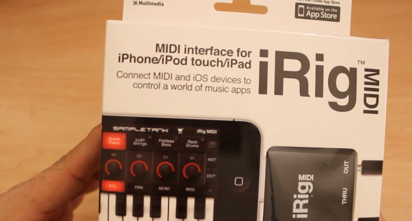 iRig MIDI Unboxing / Review –  IK Multimedia – MIDI Interface for iPhone iPad and iPod