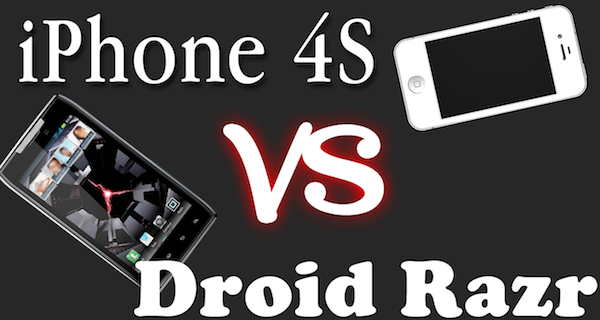 Apple iPhone 4S VS Motorola Droid Razr – Camera Video and Photo Quality Comparison – Side by Side