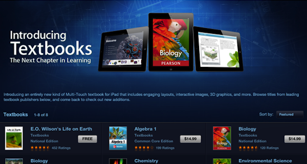 350,000 Textbooks downloaded from iBooks in 3 days