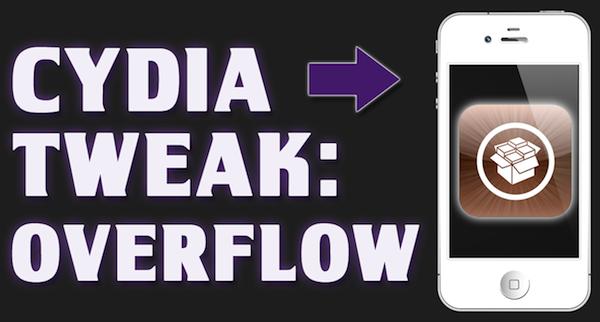Cydia Tweak: Overflow – Dynamic 'Coverflow'-esque style to your iOS dock – iPhone / iPad / iPod