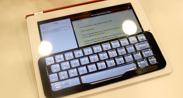 Macworld | iWorld 2012 – iKeyboard – Keyboard Shell Attachment for iPad