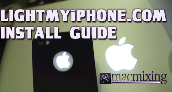How To Install – Illuminated iPhone Apple Logo Light Mod from LightMyiPhone.com – iPhone 4S