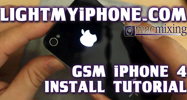 How To Install – Illuminated iPhone Apple Logo Light Mod from LightMyiPhone.com – GSM iPhone Models