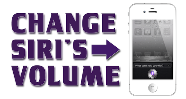 How to Use Siri iPhone 4S – Change Siri's Volume or Mute Siri