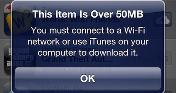 Apple Increases App Download Limit to 50MB – iOS 5.1