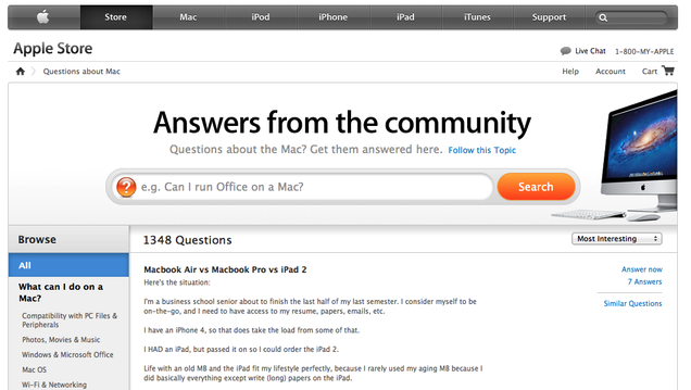 apple discussion answer