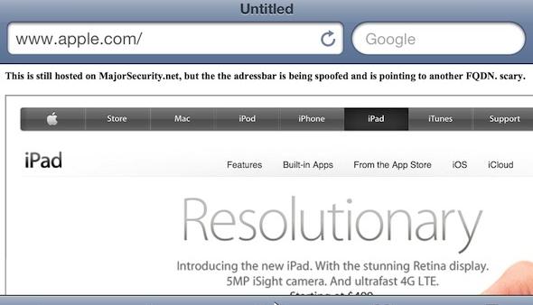 [Exploit] Safari Bug Found that allows URL Spoofing in iOS 5.1