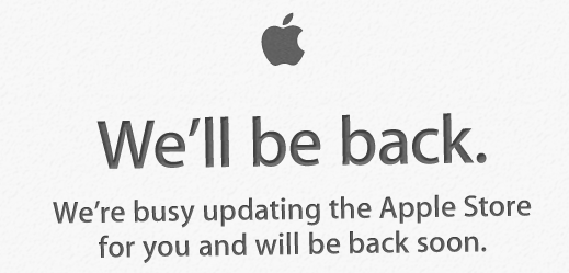 Apple Store Down for Updates, Possibly Refreshed Look?