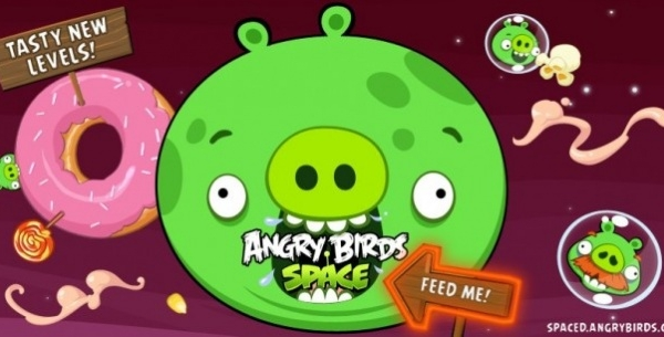 Angry Birds Space Updated With 10 Tasty Levels