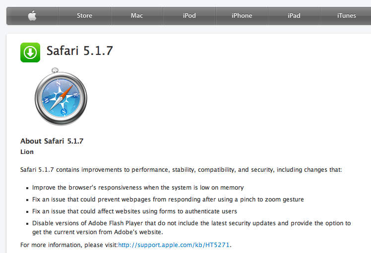Download safari 5. 1. 7.