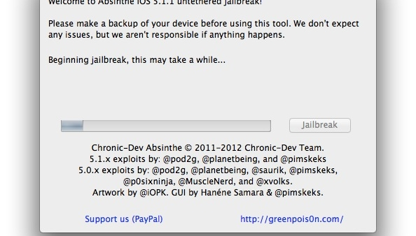 Absinthe 2.0 Untethered Jailbreak Tool Updated With Bug Fixes