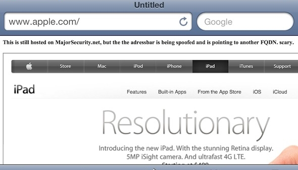URL Spoofing in Safari Patched in iOS 5.1.1