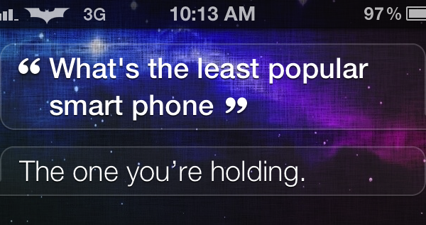 Siri, What's The Least Popular Smartphone?