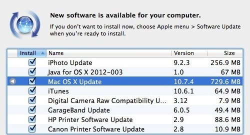 OS X Lion 10.7.4 Update is Available!