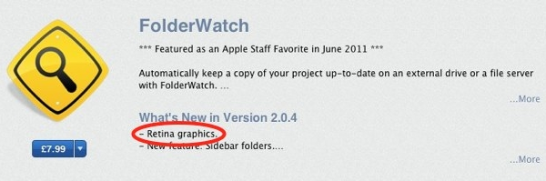 Retina-Ready App Shows Up In Apple's Mac App Store – Proof Of Retina MacBooks?