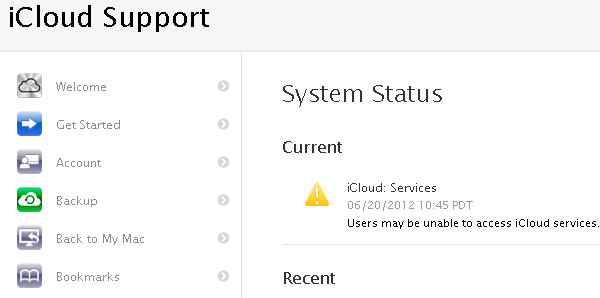 iCloud and iMessage Experiencing Massive Outage [UPDATE: Back Online]