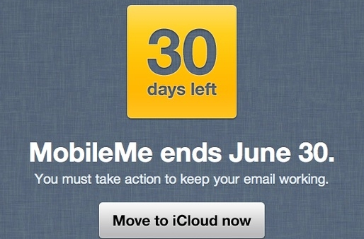 Apple Sending Out 30 Day Reminders For MobileMe Discontinuation