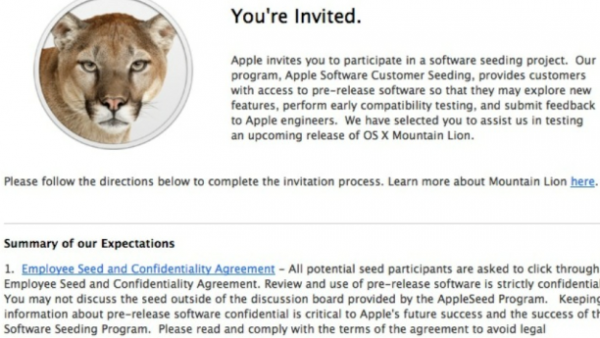 Apple Invites Retail Store Employees To Test Drive OS X Mountain Lion