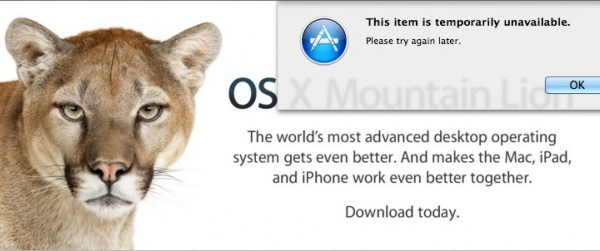 Getting Error Messages Trying To Download Mountain Lion?