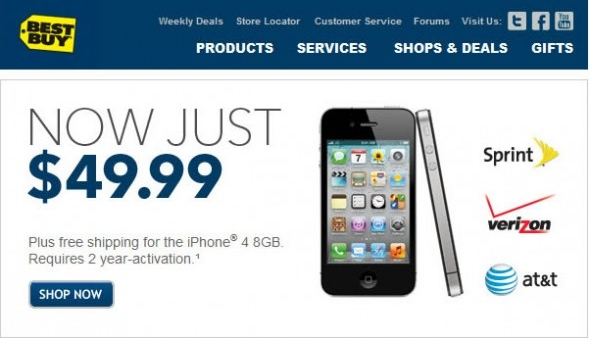 Best Buy Is Selling The iPhone 4 For Only $49.99
