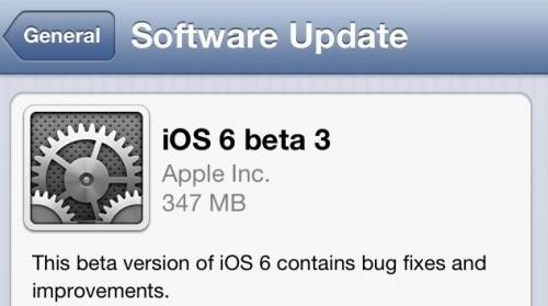 Apple Releases iOS 6 Beta 3 To Developers