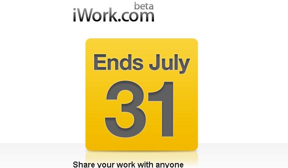 Apple Reminds Us iWork.com Closes On July 31st