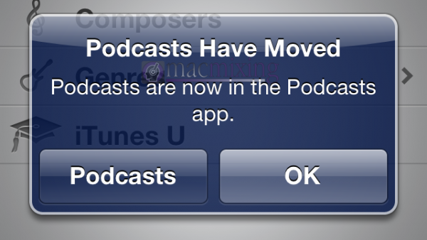 Are Podcasts Really Moving In iOS 6?