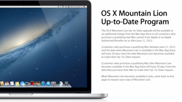 Get A Free Upgrade To Mountain Lion With A New Mac Purchase