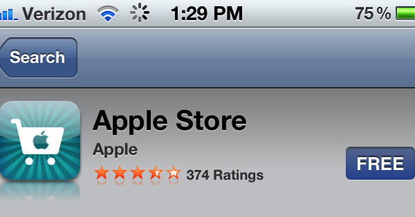 Apple Store iOS App Gets Updated With 'Performance Enhancements'
