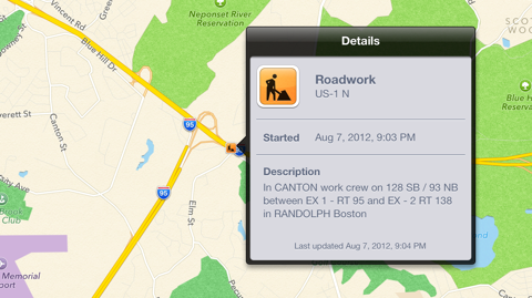 iOS 6 Features: Roadwork Alerts For Better Navigation