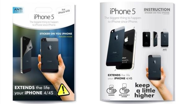 Didn't Get An iPhone 5? Transform Your iPhone 4S/4 Into One With A Sticker