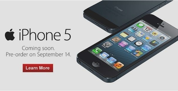 Preorder An iPhone 5 Starting Friday 12:01 AM PST / 3AM EST