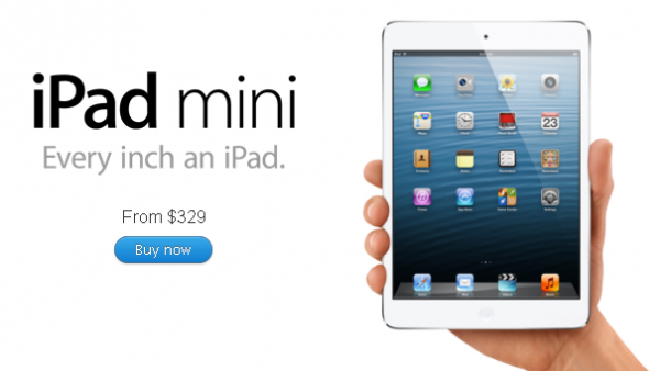 iPad mini Launch Day Preorder Stock Is Sold Out