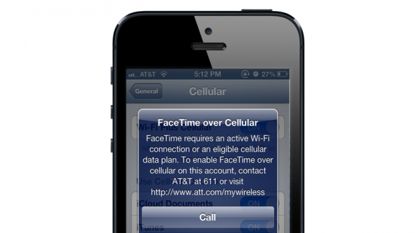 FaceTime Over Cellular Available For All LTE Data Plans On AT&T