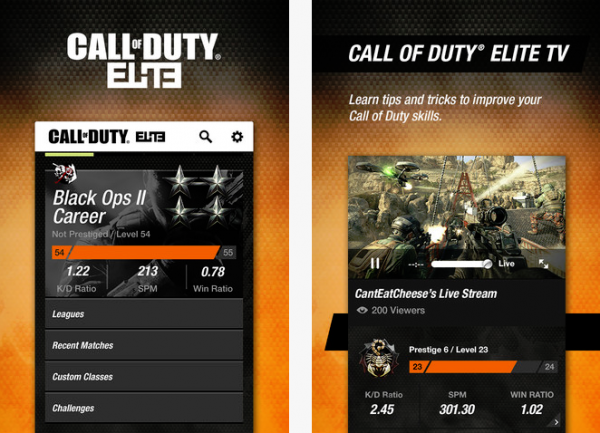 Call of Duty Elite iOS app update