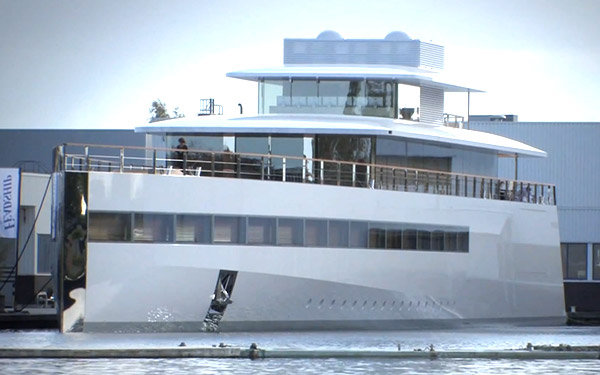 Steve jobs family yacht impounded over pricey unpaid for Product design jobs amsterdam
