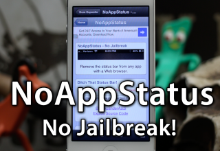 [Video] Get Rid Of An App's Status Bar With NoAppStatus – No Jailbreak Required