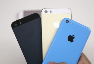 [First Look] Gold/Champagne iPhone 5S Housing Versus Blue iPhone 5C