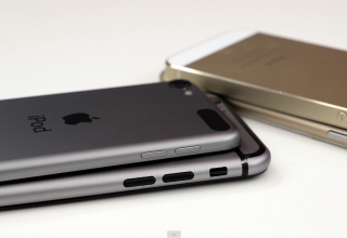 Gold And Space Gray iPhone 6 (Mockup) vs iPhone 5s And iPod touch 5G